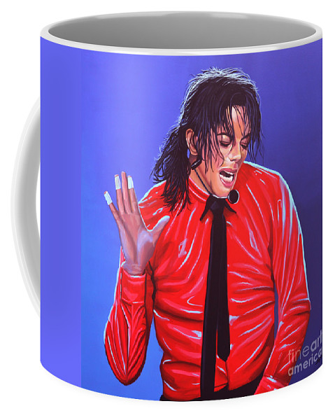 Michael Jackson Coffee Mug featuring the painting Michael Jackson 2 by Paul Meijering