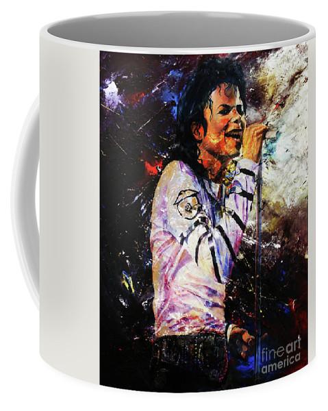 Michael Jackson Coffee Mug featuring the painting Michael Jackson by Gull G
