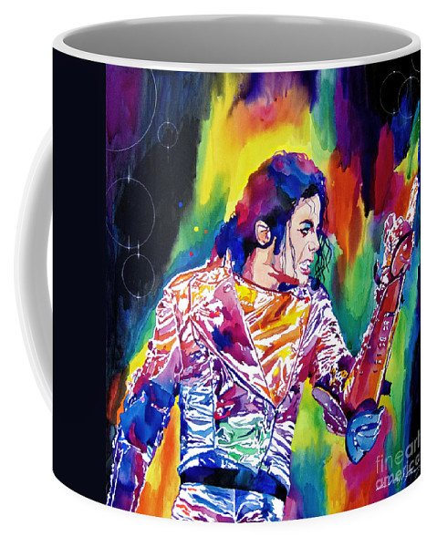 Michael Jackson Coffee Mug featuring the painting Michael Jackson Showstopper by David Lloyd Glover