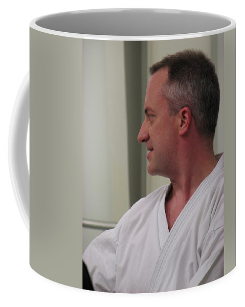 Karate Coffee Mug featuring the photograph Michael by Kelly Mezzapelle