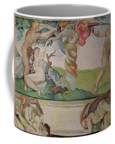 Painting Coffee Mug featuring the painting Michelangelo Study 4 by Amber Whiteman