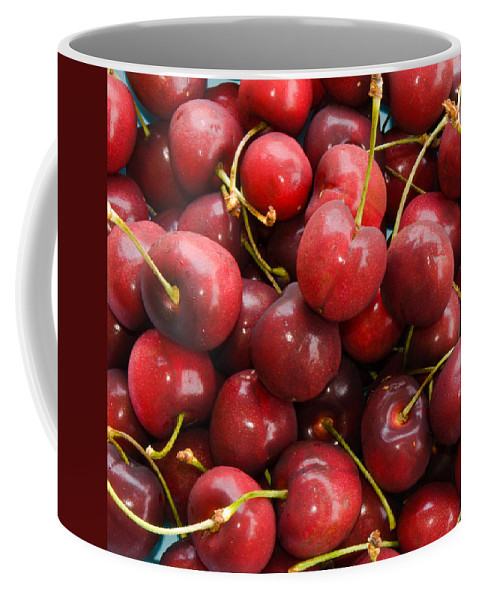 Life; Bowl; Cherry; Cherries; Dish; Bunch; Pile; Stem; Pit; Pie; Fruit; Blossom; Tree; Florida; Ripe Coffee Mug featuring the photograph Michigan Cherries by Allan Hughes