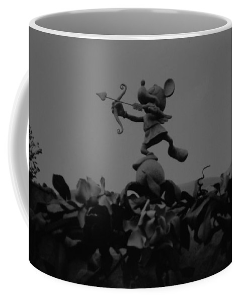 Black And White Coffee Mug featuring the photograph Mickey Mouse In Black And White by Rob Hans