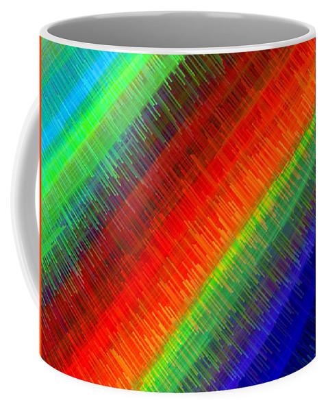 Micro Linear Coffee Mug featuring the digital art Micro Linear Rainbow by Will Borden