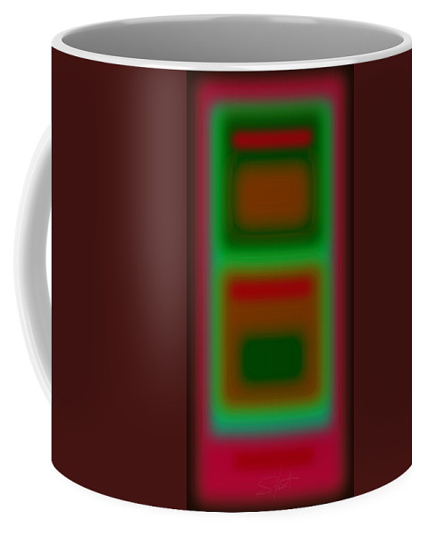 Landscape Coffee Mug featuring the painting Micro Magenta by Charles Stuart