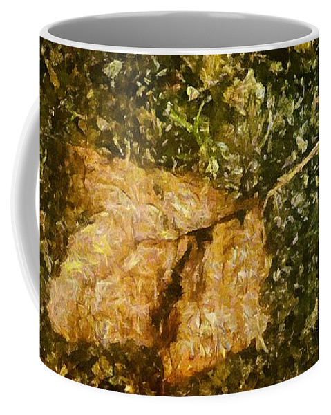 Autumn Coffee Mug featuring the painting Microcosm Of Fall by RC DeWinter