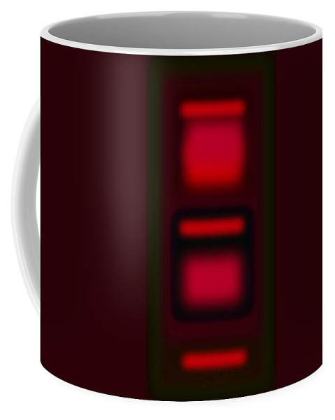 Landscape Coffee Mug featuring the digital art Microwave  by Charles Stuart