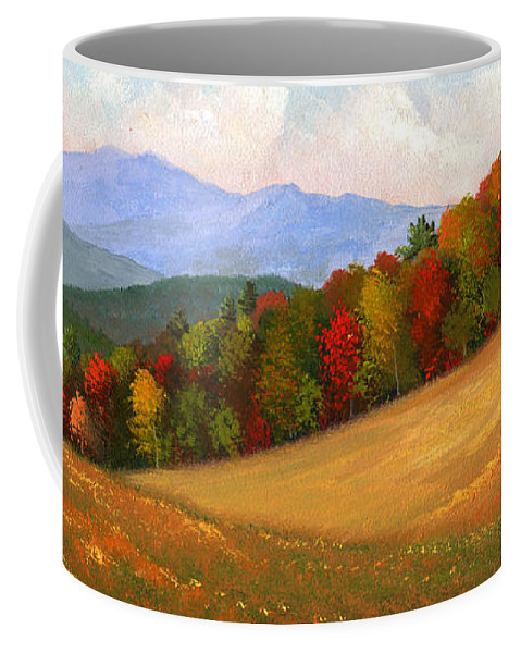 Landscape Coffee Mug featuring the painting Mid Autumn by Frank Wilson