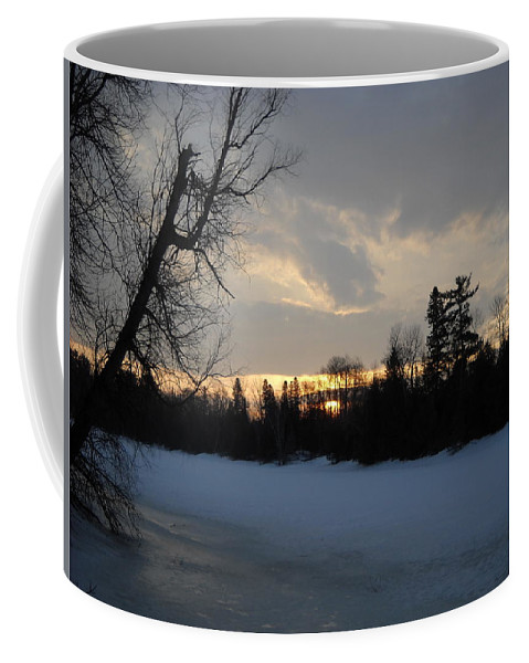 Mississippi River Coffee Mug featuring the photograph Mid March Sunrise Over Mississippi River by Kent Lorentzen