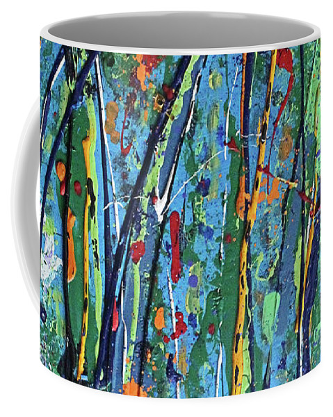 Bright Coffee Mug featuring the painting Mid-Summer Night's Dream by Pam Roth O'Mara