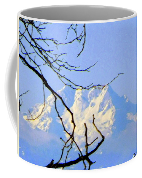 Olympics. Mountain Coffee Mug featuring the photograph Mid-winter 2 by Maro Kentros