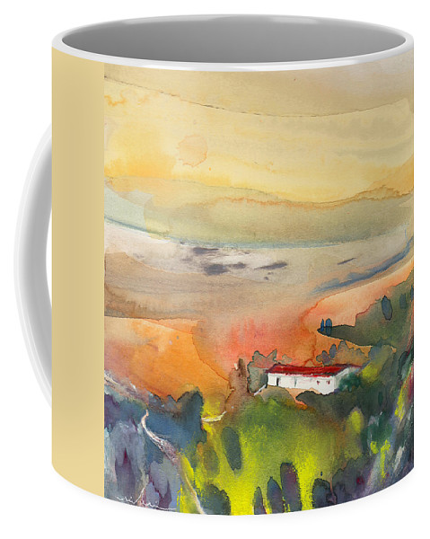 Watercolour Coffee Mug featuring the painting Midday 09 by Miki De Goodaboom