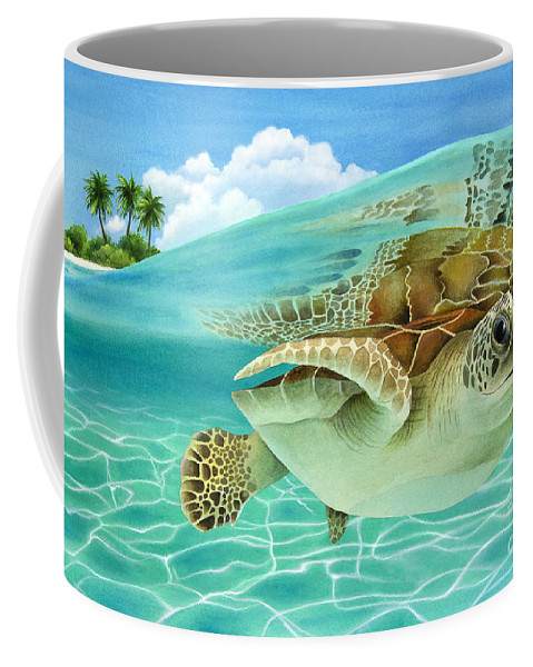 Carolyn Steele Coffee Mug featuring the painting Midday At The Oasis by MGL Meiklejohn Graphics Licensing