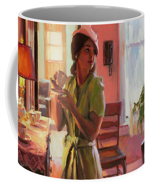 Nostalgia Coffee Mug featuring the painting Midday Tea by Steve Henderson
