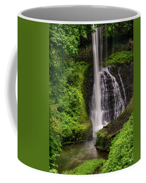 Cave Coffee Mug featuring the photograph Middle North Falls by Michele James