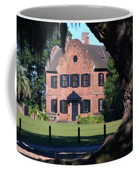 Photography Coffee Mug featuring the photograph Middleton Place Plantation House by Susanne Van Hulst