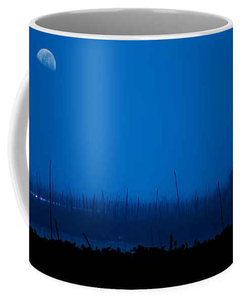 Lake Coffee Mug featuring the photograph Midnight Blue by George Cabig