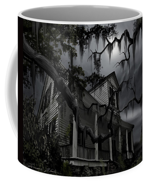 Ghosts Coffee Mug featuring the painting Midnight in the House by James Christopher Hill