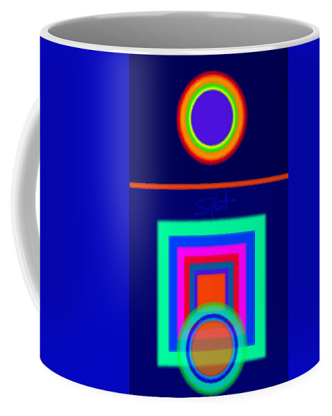 Classical Coffee Mug featuring the digital art Midnight Journey by Charles Stuart