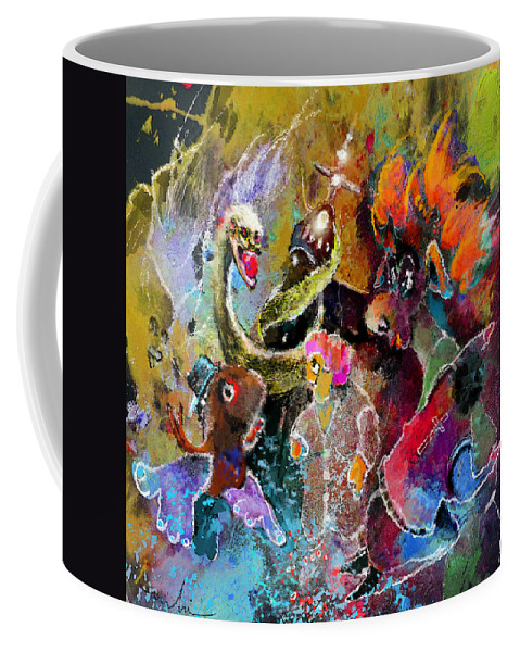 Fantasy Coffee Mug featuring the painting Midnight Mass by Miki De Goodaboom