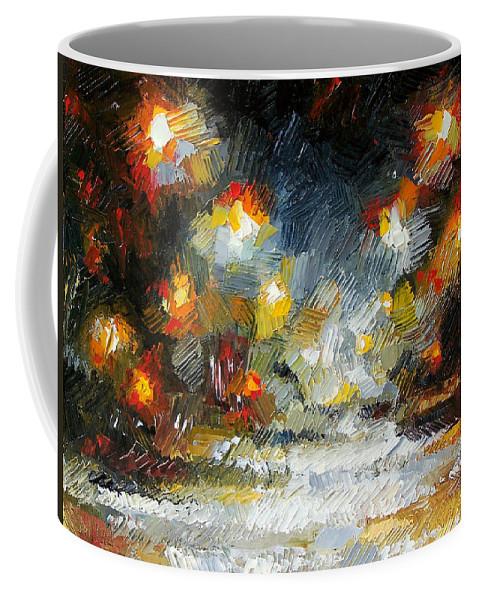 Coffee Mug featuring the painting Midnight Storm by Debra Hurd