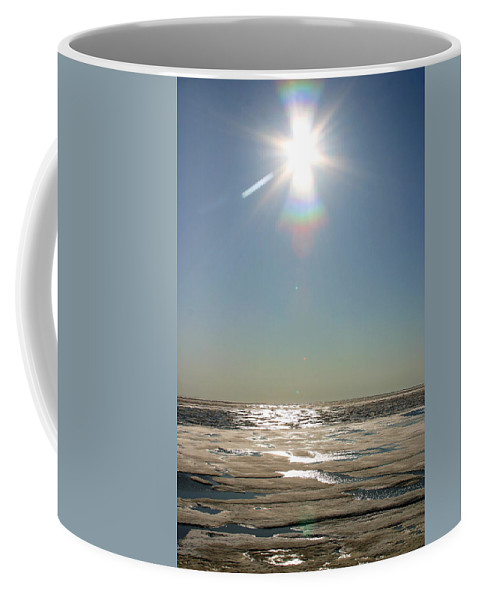 Arctic Coffee Mug featuring the photograph Midnight Sun Over The Arctic by Anthony Jones