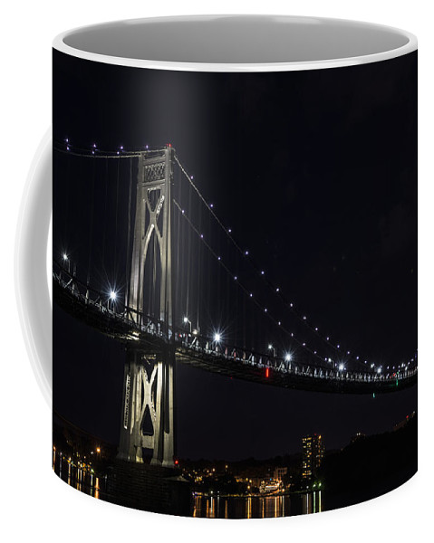 Bridge Coffee Mug featuring the photograph Midnite Crossing by Angelo Marcialis