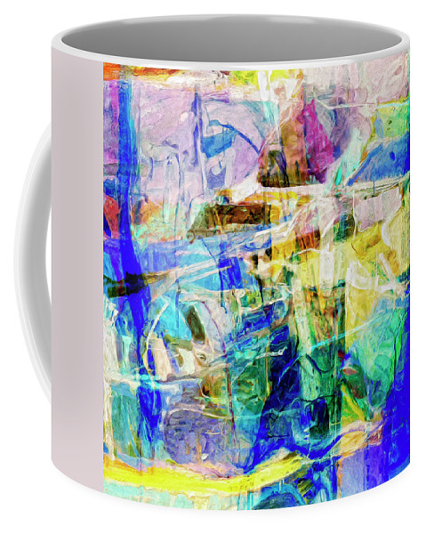 Abstract Coffee Mug featuring the painting Midtown Manhattan by Dominic Piperata