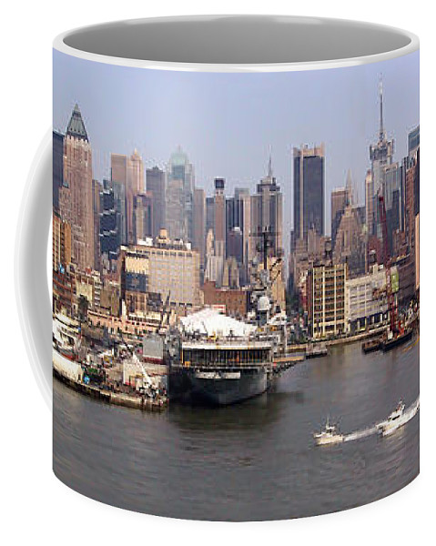 Manhattan Coffee Mug featuring the photograph Midtown Manhattan Panorama by Thomas Marchessault