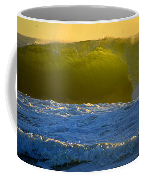 Ocean Coffee Mug featuring the photograph Mighty Ocean At Sunrise by Dianne Cowen