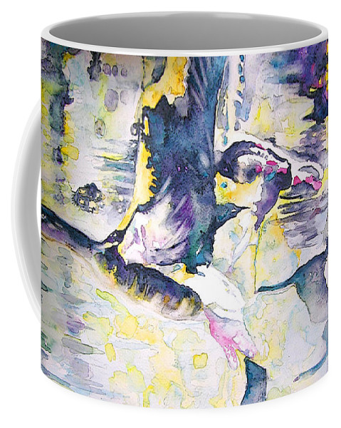 Birds Painting Coffee Mug featuring the painting Migration 02 by Miki De Goodaboom