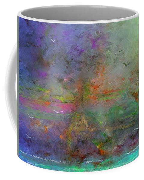 Digital Painting Coffee Mug featuring the digital art Migration by David Lane
