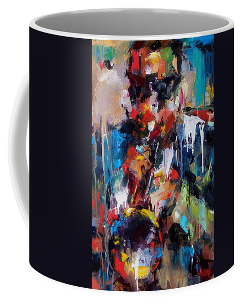 Jazz Art Coffee Mug featuring the painting Miles Davis 2 by Debra Hurd