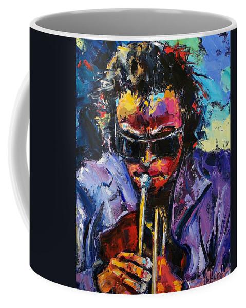 Miles Davis Coffee Mug featuring the painting Miles Davis by Debra Hurd