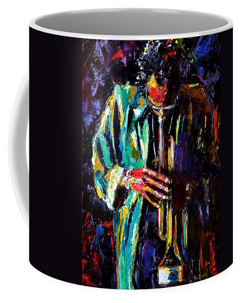 Miles Davis Coffee Mug featuring the painting Miles by Debra Hurd
