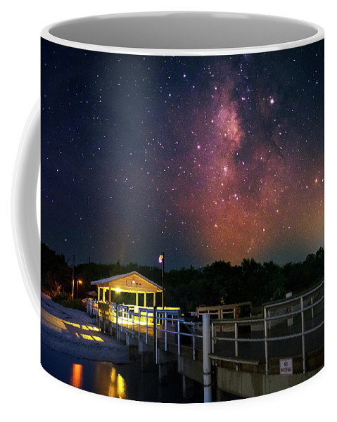 Sanibel Island Coffee Mug featuring the photograph Milky Way Over The Sanibel Pier by Greg and Chrystal Mimbs
