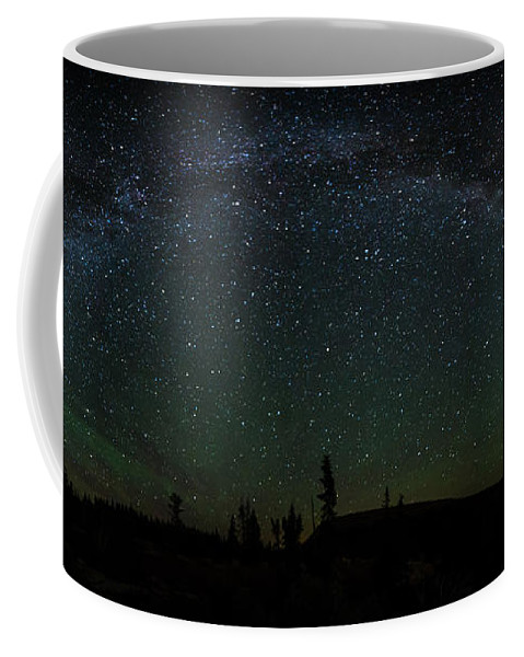 Milky Way Coffee Mug featuring the photograph Milky Way Panorama by Scott Law