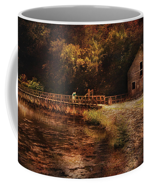 Savad Coffee Mug featuring the photograph Mill - The Village Edge by Mike Savad