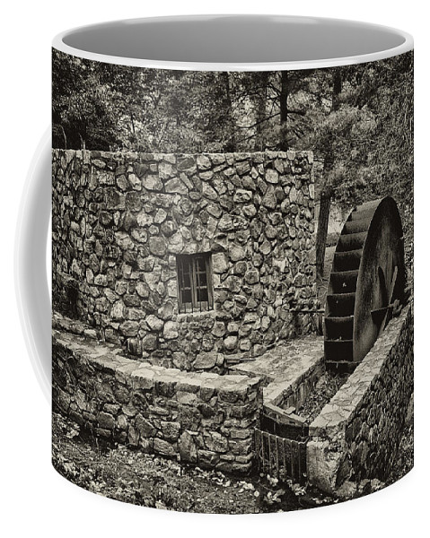 Water Coffee Mug featuring the photograph Mill Creek Water Wheel by Bill Cannon
