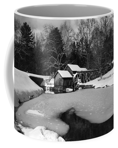 Ice Coffee Mug featuring the photograph Mill On Ice by Eric Liller