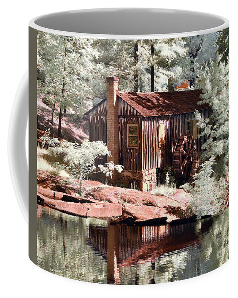 Perry's Mill Pond Coffee Mug featuring the photograph Mill Pond Dreamscape by Stephanie Petter Garrett