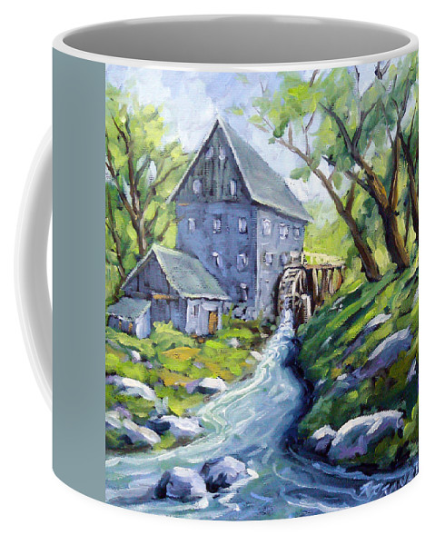 Water Coffee Mug featuring the painting Mill Scene by Richard T Pranke