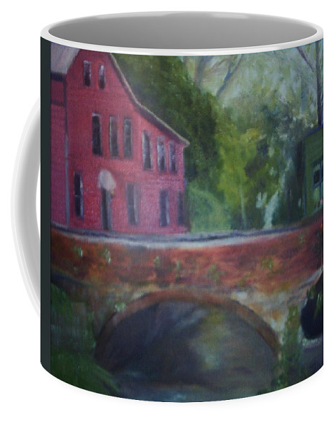 Mill Street Coffee Mug featuring the painting Mill Street Plein Aire by Sheila Mashaw
