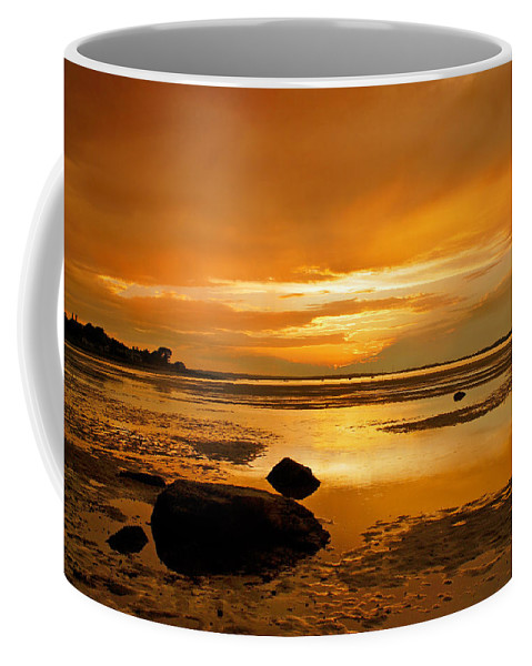 Mill Way Coffee Mug featuring the photograph Mill Way Beach Sunset by Charles Harden