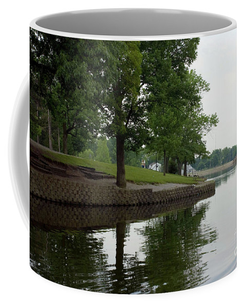 Backgrounds Coffee Mug featuring the photograph Miller Park Lake by Alan Look