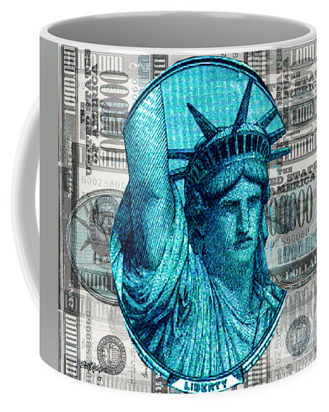Millions Coffee Mug featuring the digital art Million Dollar Pile by Seth Weaver