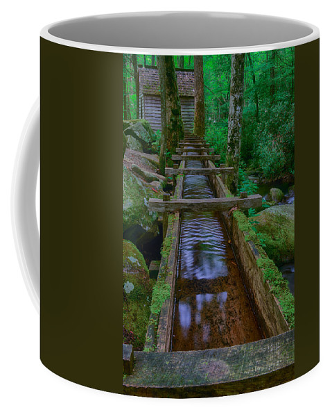 Great Smoky Mountains National Park Coffee Mug featuring the photograph Millrace by Charlie Choc