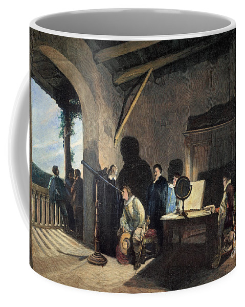 1638 Coffee Mug featuring the photograph Milton Visiting Galileo by Granger