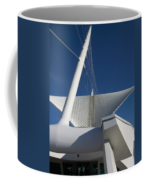 Mam Coffee Mug featuring the photograph Milwaukee Art Museum Cropped by Anita Burgermeister