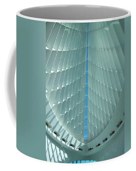 Mam Coffee Mug featuring the photograph Milwaukee Art Museum Interior by Anita Burgermeister